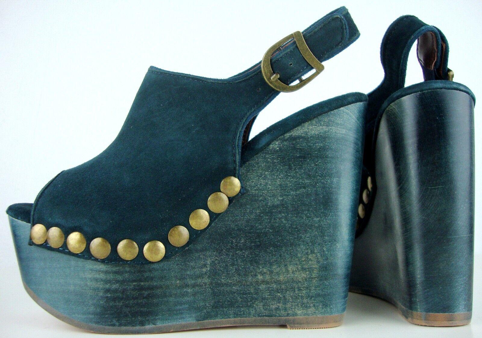 Jeffrey Campbell Snick Stud Platform sandals plateau da donna Scarpe Pelle gr37 NUOVO