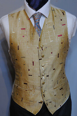 Angemessen W - 1007. Mens/boys Gold And Red Waistcoat / Dress/ Suit / Party / Formal