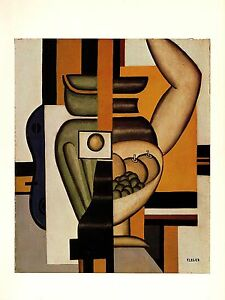 1976-Vintage-FERNAND-LEGER-034-STILL-LIFE-WITH-AN-ARM-034-WOW-COLOR-offset-Lithograph