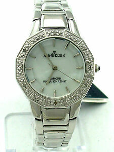 ANNE-KLEIN-8673MPSV-Mother-of-Pearl-Dial-6-Diamonds-on-Bezel-S-Steel-Band-125
