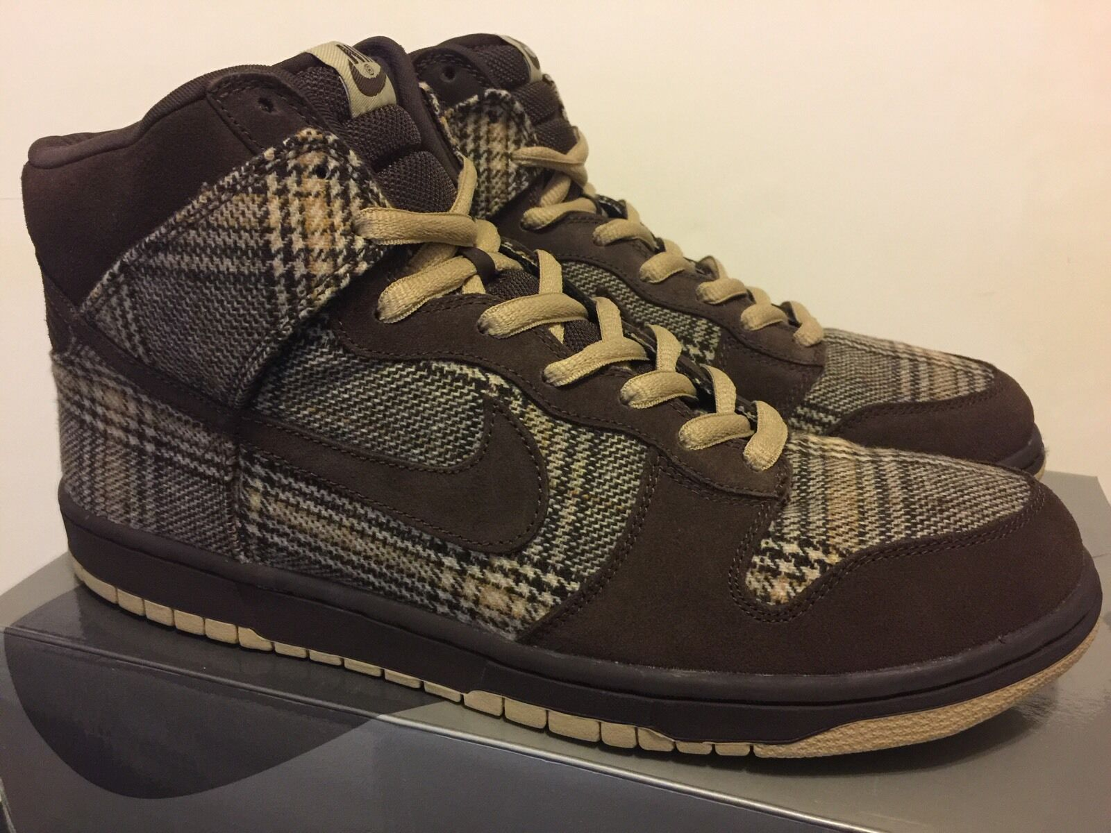 Nike Dunk High Pro Tweed / Baroque Brown 2004 Size 13 NEW DS Skunk