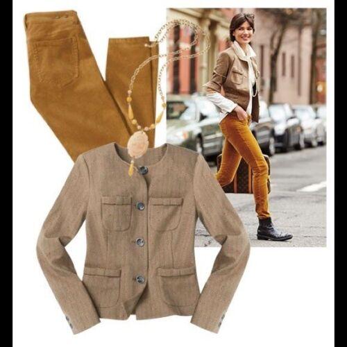 149 multi Blazer Tan Orig Cabi Jacket S New Herringbone Size Penny nwt 4FAFqPR