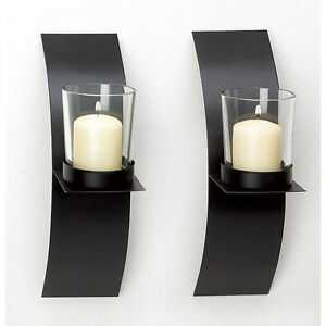 NEW-Modern-Wall-Sconce-Candle-Holder-Set-of-TWO