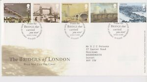 TALLENTS-PMK-GB-ROYAL-MAIL-FDC-FIRST-DAY-COVER-2002-BRIDGES-OF-LONDON-STAMP-SET