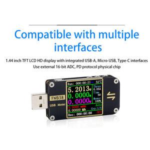 FNB38-Strom-Voltmeter-Meter-USB-Testgeraegt-QC4-PD3-0-2-0-Schnell-Ladegeraet