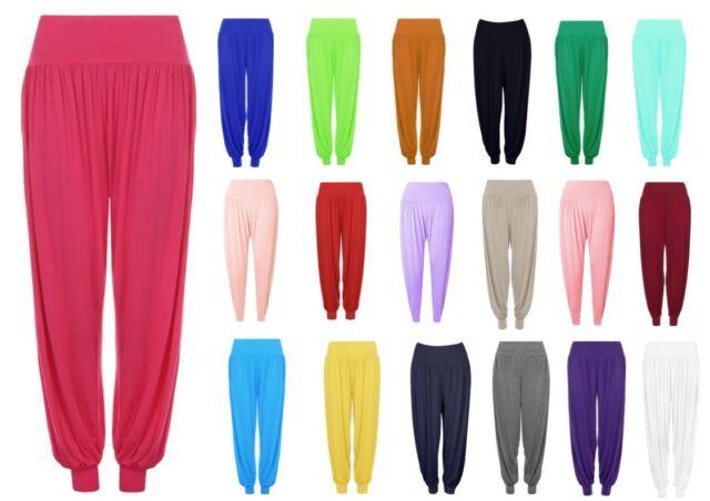 Womens Plus Size Harem Trousers Ali Baba Long Pants Baggy Hareem Leggings