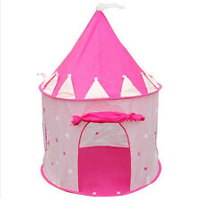 Portable Pink Play Tent Kids Girl Princess Castle Fairy Cubby House Hut Toy