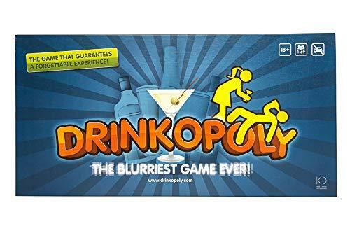 Drinkopoly – The King of Drinking Games – Combined Board/Table Party Games f