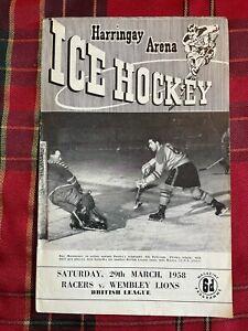 Harringay Arena Ice Hockey Programme 29/03/1958