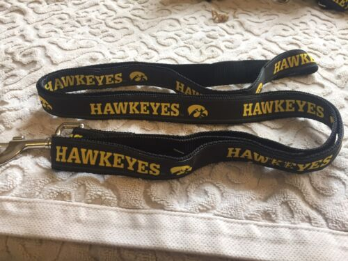 Iowa Hawkeyes Large (1 x 6') Nylon Pet Leash, Ships Free, by Hunter MFG
