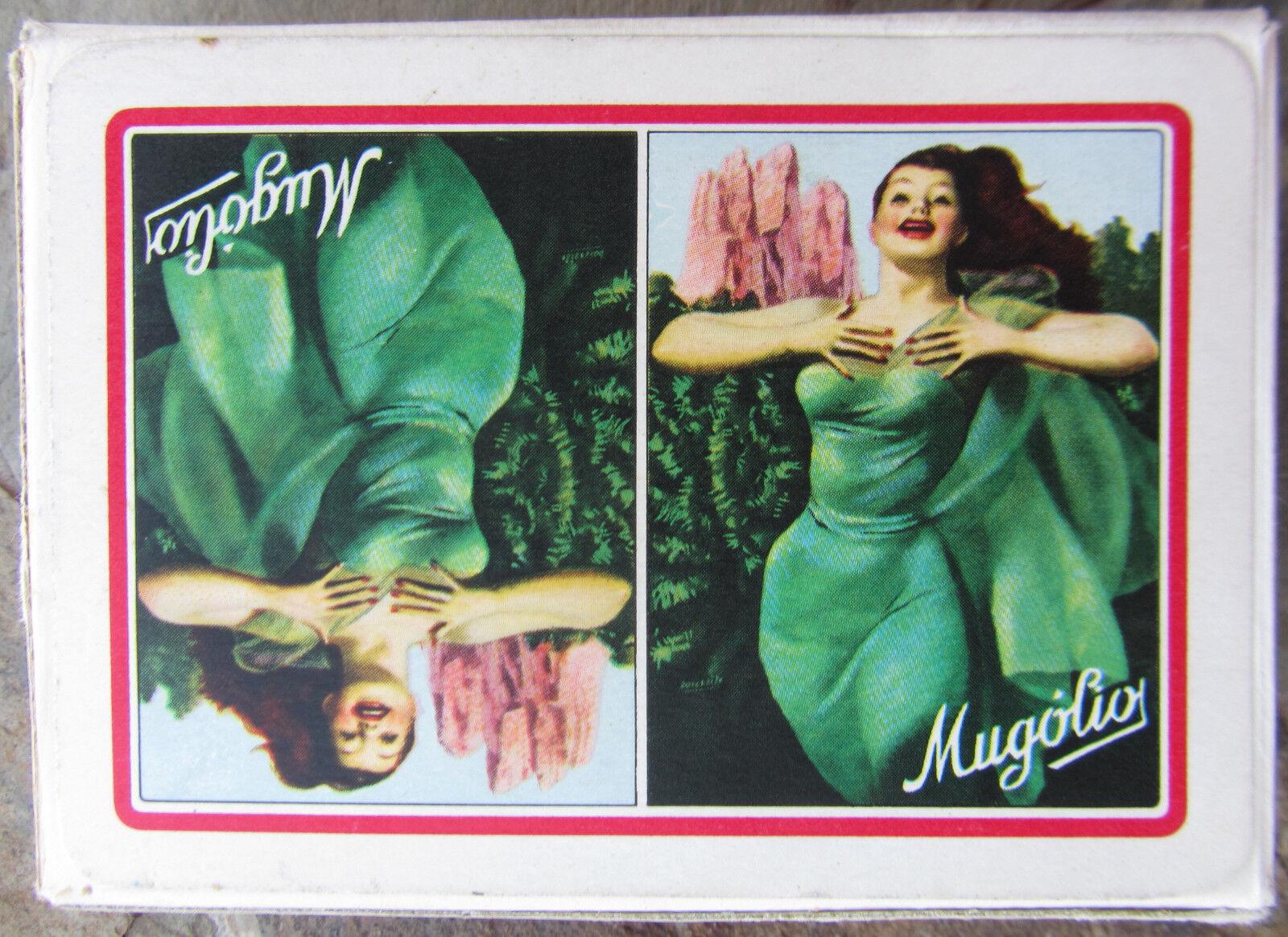 GINO BOCCASILE CARTE DA GIOCO PUBBLICITARIE MUGOLIO MASENGHINI BOLLO 1954