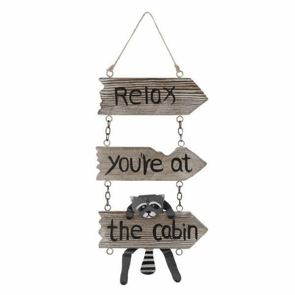 Loon Peak Dittrich Relax You're at the Cabin Decor Racoon Wall Hook