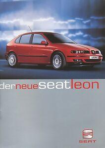 Seat-Leon-Prospekt-1999-9-99-brochure-prospectus-broschyr-prospecto-folleto-Auto