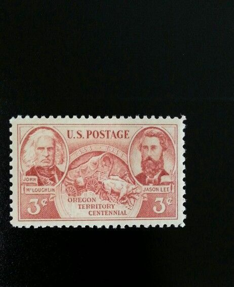 1948 3c Oregon Territory, 100th Anniversary Scott 964 M