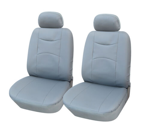 PU Leather 2 Car Seat Cover Compatible to Honda 859 Gray