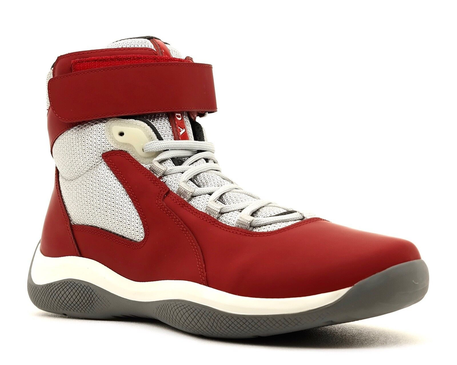 Prada Sneakers Punta Ala High Top Red Size 10 New