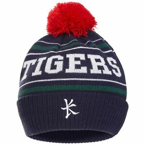 Image is loading Leicester-Tigers-Bobble-Hat-Navy-Adult-Mens-Kukri 8c10e8347b8