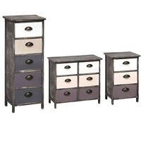 Brown Wash Wooden Drawer Storage Chest Cabinet Urban Loft In 3 Different Design
