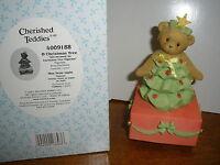 Cherished Teddies Called O Christmas Tree Wind Up Music Box Girl Bear & Box