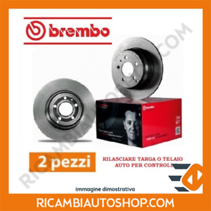 2 DISCHI FRENO ANTERIORE BREMBO VW POLO 1.6 KW:77 2010/> 09.7011.14