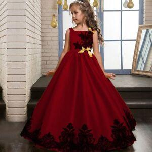 f1beff8de Flower Girl's Kid Formal Princess Dress Party Wedding Pageant Tutu ...