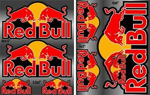 X2-sheet-RED-BULL-Sticker-Vinyl-Decal-Formula-1-car-truck-Racing-Extreme-Snow-F1