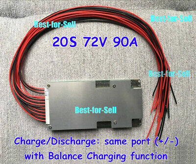 20S 72V 90A BMS PCM Protection PCB for Li-ion 18650 Battery With BALANCE charge