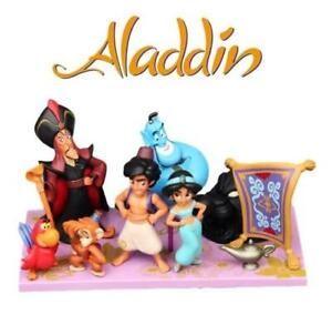 Disney-Aladdin-9-Piece-Figures-Set-Lot-Cake-Toppers-Jasmine-Genie-Jafar-Abu-14