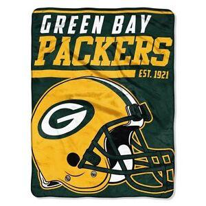 cfab0d8821f Green Bay Packers Micro Raschel Throw Blanket 40-Yard Dash Design 46 ...