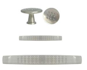Satin nickel Round Kitchen Cabinet Drawer Knobs and Pulls Brushed nickel