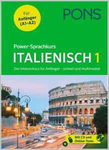 NEU-PONS-Power-Sprachkurs-ITALIENISCH-lernen-Der-Intensivkurs-fuer-Anfaenger