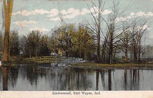 Fort-Wayne-Indiana-1909-Postcard-Lindenwood-Bridge
