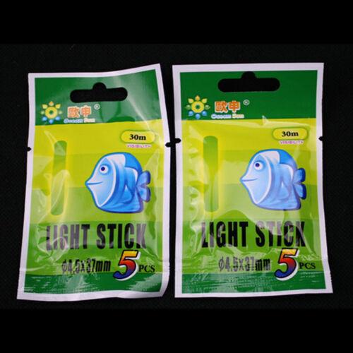 50 Pcs Fishing Lights Night Fluorescent Glow Stick Lightstick Rod 37 x 4.5 mm