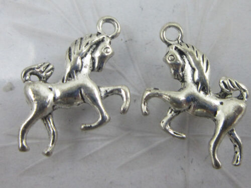 Lot 25//50pcs Retro style alloy horse charms Pendants 17x15mm