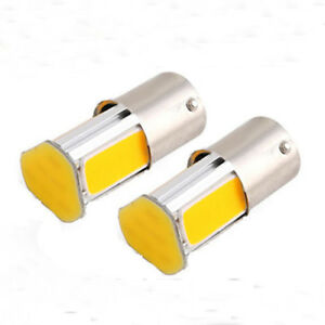 Yellow-DC-12V-2Pcs-BA15S-1156-Amber-Indicator-Lamp-LED-Bulb-Turn-Signal-Light-g