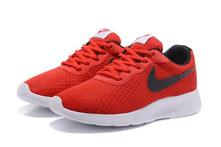 Nike Tanjun rouge blanc noir Mesh homme chaussures New In Box