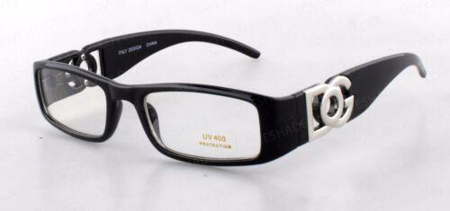 DG Clear Lens Rectangular Frames Glasses Designer Optical RX Womens Nerd Mens