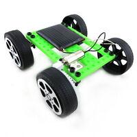 Mini Solar Powered Toy DIY Car Kit Children Educational Gadget Hobby Funny FT