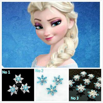 New Frozen Elsa Custom hairpins for wig Cosplay Costume Snow Queen Anime women