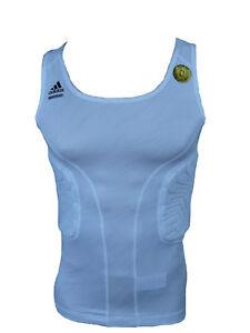 Adidas Techfit Padded Top Compression Shirt Basket Réservoir Blanc Taille 3xl-afficher Le Titre D'origine Apparence éLéGante