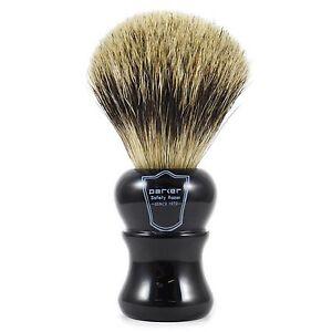 Parker-EHPB-Grande-Puro-Badger-Capelli-Depilazione-Pennello-con-Manico-Nero