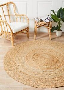 Alison Jute Rug Round Natural Circle