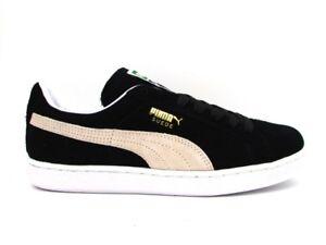 PUMA SUEDE CLASSIC BLACK WHITE 352634 03 Sneaker Nero/Bianco Nuovo