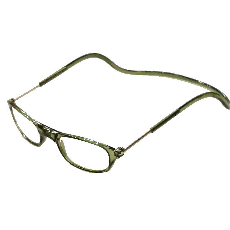 Herren Damen Lesebrille Magnet trennbar grün klassische Form 3,0 dpt