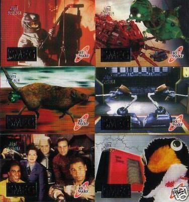 RED DWARF COMPLETE SET OF SIX SMEG CARDS