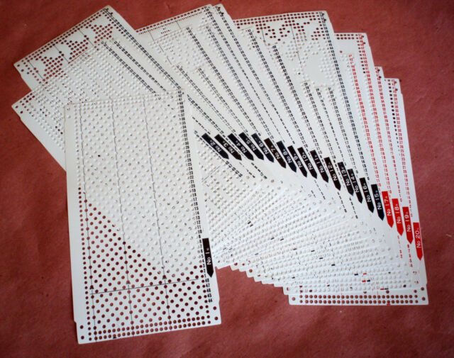 Pre punched card set all 24 stitch knitting machine brother sreed