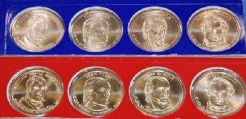8-COIN LOT ~ PRESIDENT DOLLARS ~ MINT PKG 2009-P/&D SATIN FINISH ~ 4 P/&D