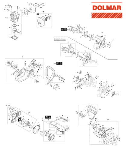 Ersatzteile für DOLMAR PS-43 Benzin-Motorsäge