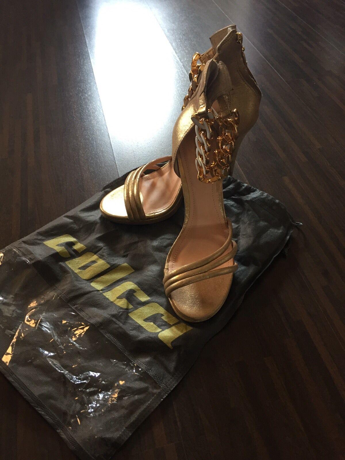 Colcci High Heels Gold Gr. 40 Party Silvester - NEU