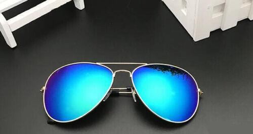 Women/'s Sunglasses Mirror Silver Reflective Aviator Pilot UV400